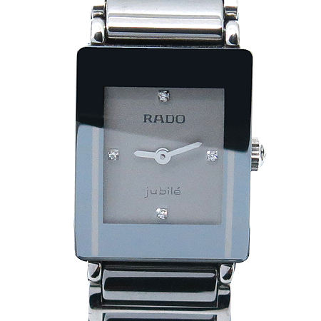 RADO(라도) DiaStar Jubile(쥬빌) 4포인트 다이아 스퀘어 여성 스틸 시계