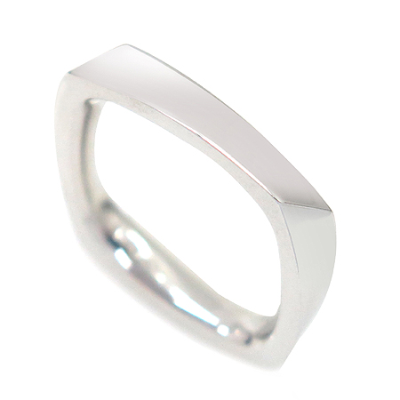 Tiffany(티파니) 18K(750) 화이트 골드 FRANK GEHRY TORQUE(프랑크 게리 토르크) 사각 반지- 9 호 [강남본점]