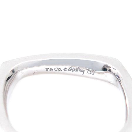 Tiffany(티파니) 18K(750) 화이트 골드 FRANK GEHRY TORQUE(프랑크 게리 토르크) 사각 반지- 9 호