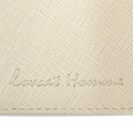 LOVCAT(러브캣) 와인 래더 로고 장식 반지갑
