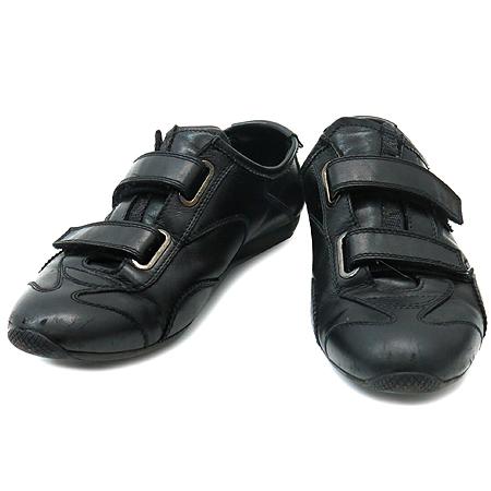 Prada(프라다) 블랙 래더 여성용 스니커즈