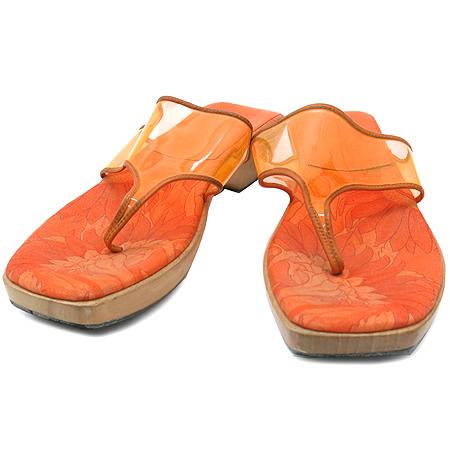 Ferragamo(페라가모) 오렌지 컬러 여성용 쪼리 샌들 [동대문점]