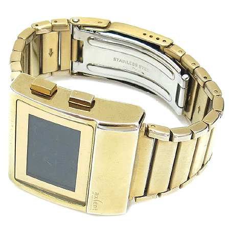 AXCENT (액센트) X4367 금장 스틸 전자 시계 이미지2 - 고이비토 중고명품