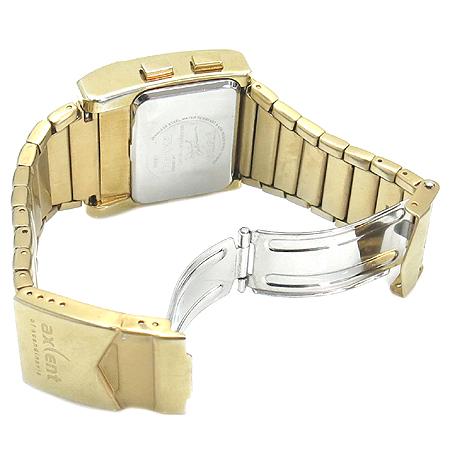 AXCENT (액센트) X4367 금장 스틸 전자 시계 이미지3 - 고이비토 중고명품