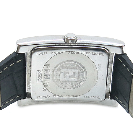 Fendi(펜디) F701111(7000G) 클래식 스틸 스퀘어 가죽 밴드 남성용 시계