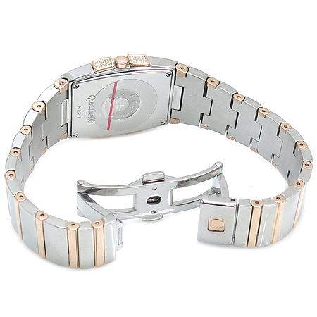 Omega(오메가) 12867500 컨스트레이션 Quadrella (쿼드렐라) 18K 콤비 다이아 세팅 자개판 여성용 시계