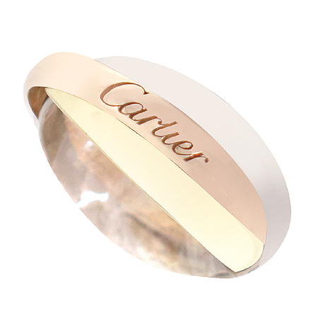 Cartier(까르띠에) 18K 골드 삼색 트리니티 반지 - 7호