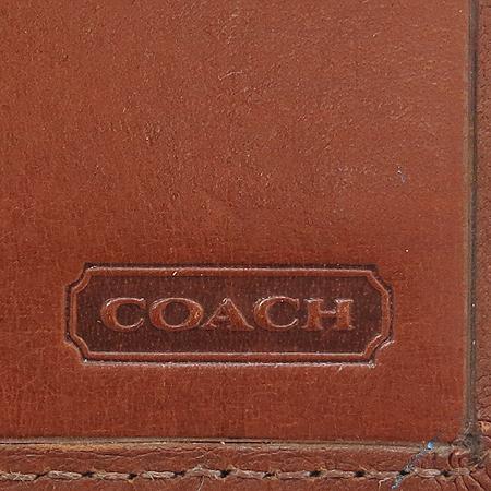 Coach(코치) 브라운 래더 지퍼 포켓 장지갑