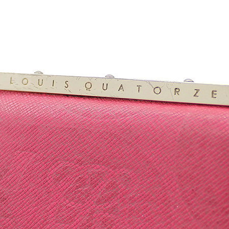 Louis_Quatorze(루이까또즈) 금장 핑크 래더 반지갑