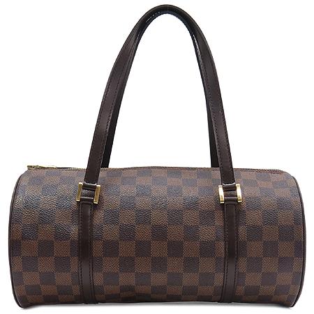 Louis Vuitton(루이비통) N51303 다미에 에벤 캔버스 파필론30 토트백+원통파우치