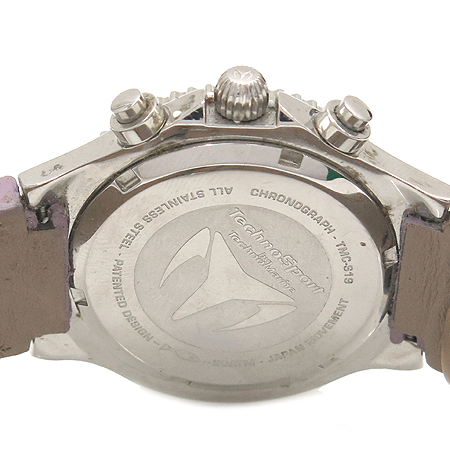 TechnoMarine (테크노마린) TMCS19 자개판 크로노그래프 자개판 가죽밴드 남여공용 시계