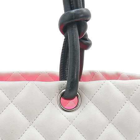 Chanel(샤넬) A25169 화이트 레더 깜봉 라지 쇼퍼 숄더백