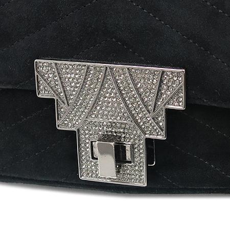 MICHAA(미샤) 블랙 스웨이드 장식 체인 숄더백