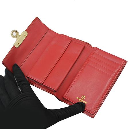DOUBLE M(더블엠) 로고 장식 페이던트 중지갑