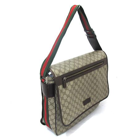 Gucci(구찌) 189748 GG 로고 PVC 삼색 스티치 크로스백