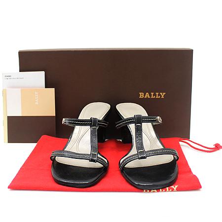 Bally(발리) 블랙 래더 오픈토 여성용 샌들