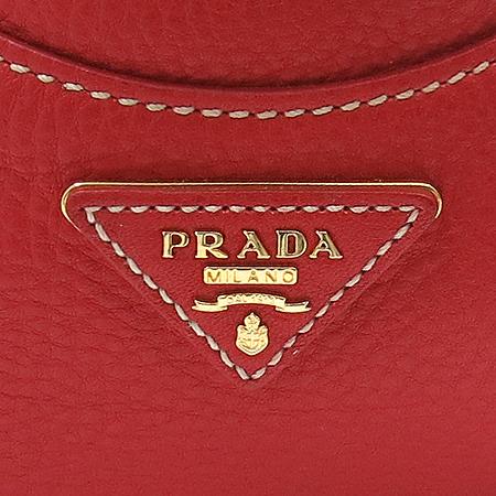 Prada(프라다) BR4627 금장 로고 장식 레드 레더 토트백