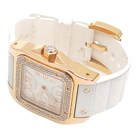 Cartier(까르띠에) WM50450M 산토스100 주년기념 18K(750) 금통 베젤 다이아 오토메틱 시계