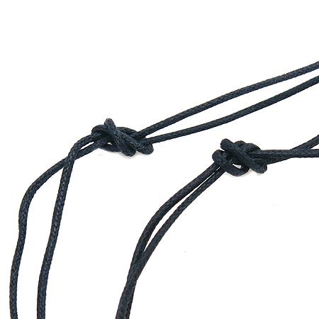 Swarovski(스와로브스키) 퍼즐 장식 블랙 커풀 줄 목걸이(목걸이2개)