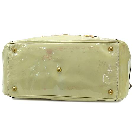 Gucci(구찌) 159399 금장 로고 페이턴드 래더 뱀부 장식 토트백