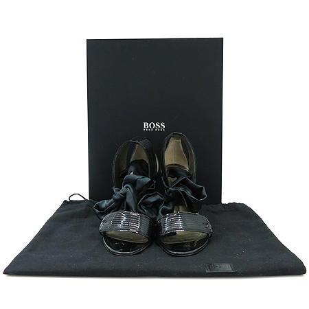 Hugo Boss(휴고보스) 92402 실크 리본 장식 오픈토어 여성 구두