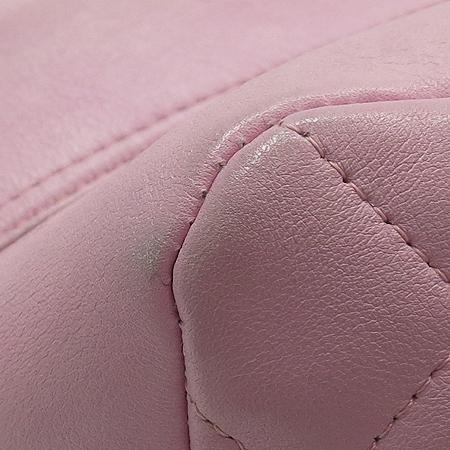 Chanel(샤넬) A50492 핑크 깜봉 COCO로고 스티치 볼링 숄더백