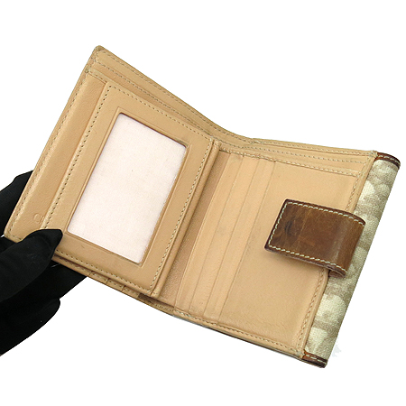 Dior(크리스챤디올) 하트 로고 장식 PVC 반지갑