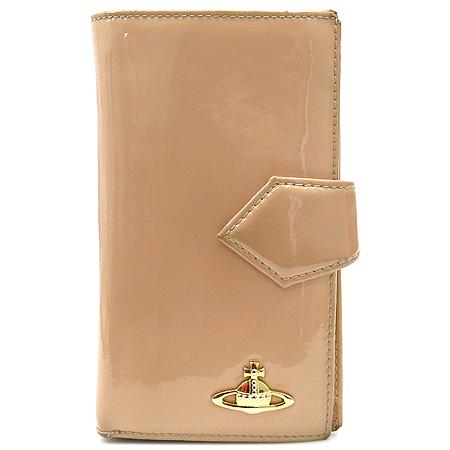 Vivienne_Westwood (비비안 웨스트우드) 금장 로고 장식 페이던트 장지갑