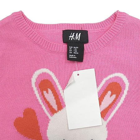 H&M(에이치엔엠) 여아용 니트 반팔 원피스