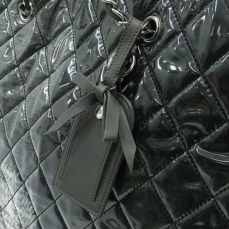 Chanel(샤넬) 시즌 한정판 트위드 패치워크 페이던트 은장 체인 쇼퍼 숄더백