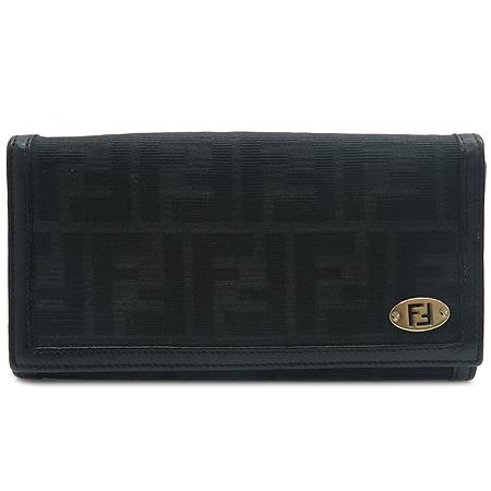 Fendi(펜디) 8M0000 FF로고 패브릭 장지갑