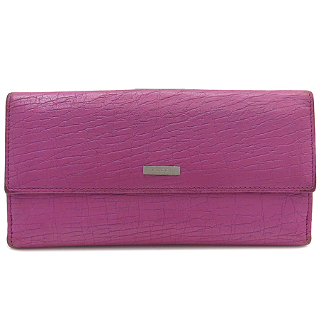 Gucci(구찌) 143389 은장 이니셜 로고 핑크 래더 장지갑