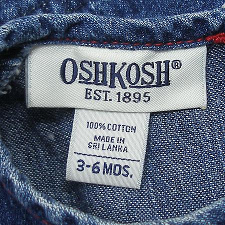 OSHKOSH(오시코시) 여아용 청 나시 원피스
