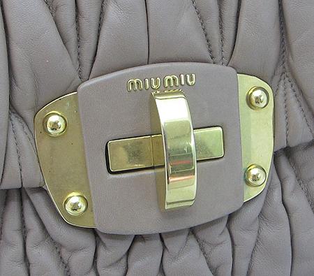 MiuMiu(미우미우) RN0666 금장 로고 마트라쎄 2WAY