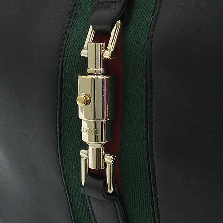 Gucci(구찌) 120888 금장 장식 GG 로고 블랙 래더 숄더백