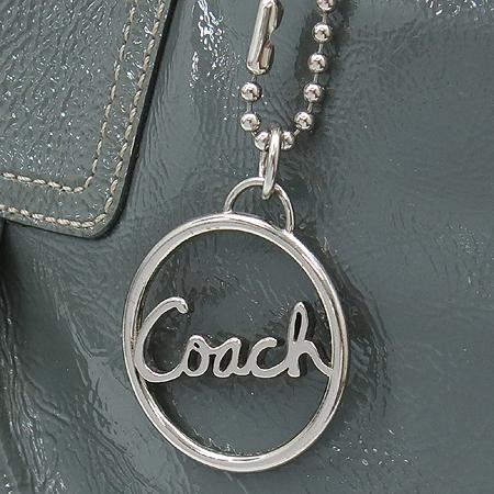 Coach(코치) 13761 로고 장식 그레이 에나멜 숄더백