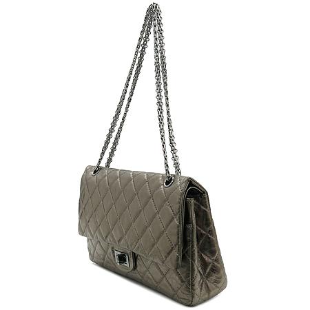 Chanel(샤넬) 2.55 빈티지 메탈릭 골드 L 사이즈 은장 체인 숄더백 [강남본점] 이미지3 - 고이비토 중고명품