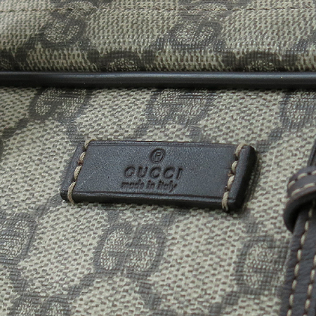 Gucci(구찌) 201480 GG로고 PVC 서류가방 + 숄더 스트랩 [명동매장]