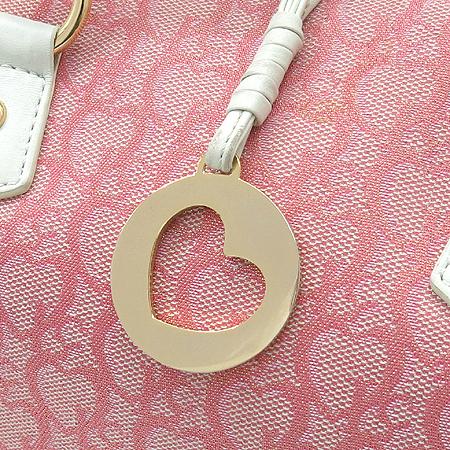 LOVCAT(러브캣) 금장 로고 장식 패브릭 토트백