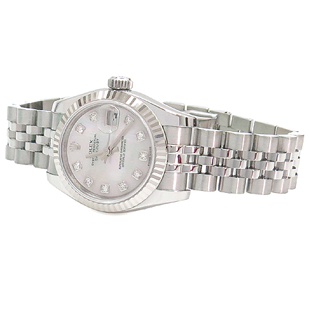 Rolex(로렉스) 179174 10포인트 다이아 자개판 DATEJUST(데이트저스트) 여성용 시계