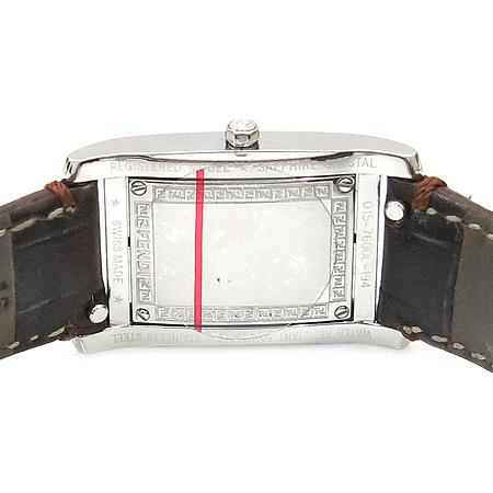 Fendi(펜디) 7600L 사각 은장 스틸 가죽밴드 여성용 시계