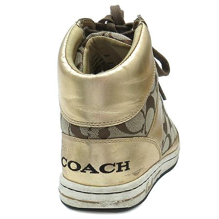 Coach(코치) 골드 브론즈 시그네쳐 하이탑 여성용 스니커즈 이미지4 - 고이비토 중고명품