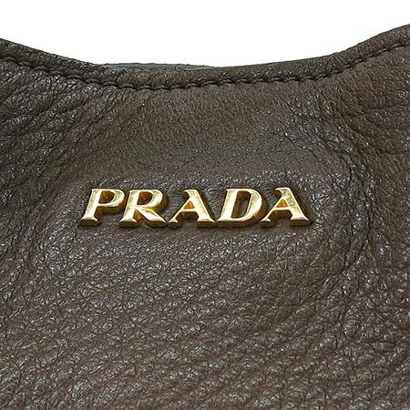 Prada(프라다) BR4246 금장 로고 장식 브라운 레더 숄더백 [명동매장]