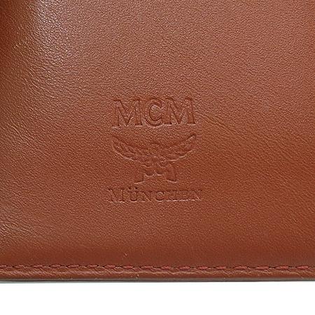 MCM(엠씨엠) 브라운 래더 라이언 뱅 장지갑