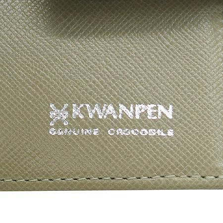 KWANPEN(콴펜) 옐로우 컬러 크로커다일 중지갑