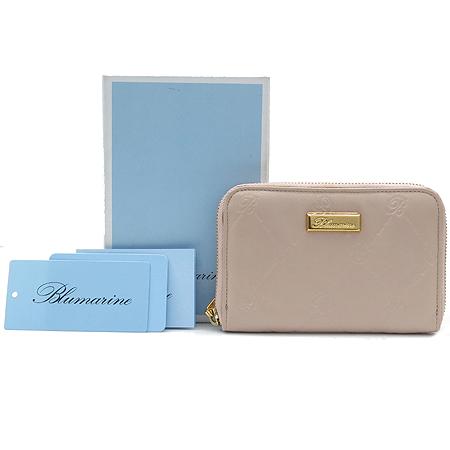 Blumarine(블루마린) 금장 로고 장식 인디핑크 래더 집업 중지갑 [강남본점] 이미지2 - 고이비토 중고명품