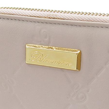 Blumarine(블루마린) 금장 로고 장식 인디핑크 래더 집업 중지갑
