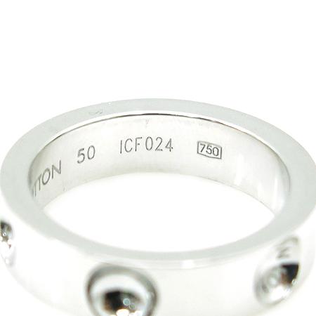 Louis Vuitton(루이비통) Q9125A 18k 화이트 골드 스몰 앙프렝트 반지-10호