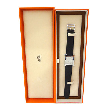 Hermes(에르메스) HH1.510. H-OUR 은장 펜던트 가죽 밴드 남성용 시계 [일산매장]
