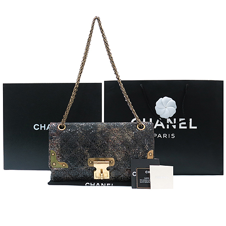 Chanel(샤넬) A48807Y06753 2010년 시즌 한정판 2.55 아이콘(ICONS) 트위드 빈티지 금장 체인 숄더백